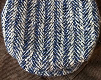 FIVE POINTS Flat Cap in Vintage French Herringbone Wool Tweed - Made to Order