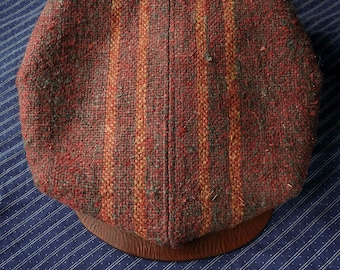 L'ARONDE (The Dove) - 1920s-Pattern French Style Casquette Flat Cap in Antique Homespun Bulgarian Hemp - Made to Order