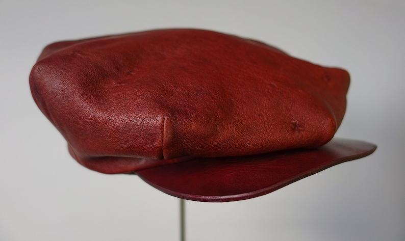 The LE MANS  1920s Style Flat Cap in Shrunken Sheepskin image 0