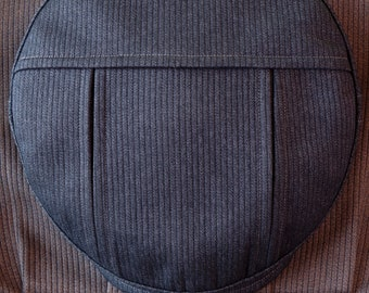 The EASTMAN - 1910s Pattern Pleated Flat Cap in 1940s French Bedford Cord Cotton and 1930s Salt & Pepper Covert Cloth Liner - Made to Order