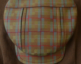 The EASTMAN - 1910s Pattern Pleated Flat Cap in Dashing Tweeds Luminescent Merino Wool - Made to Order
