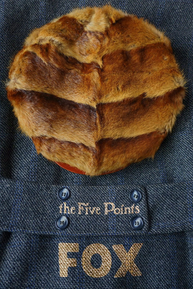 The Five Points FOX  One-Off Fur Flat Cap Made From Reclaimed image 0