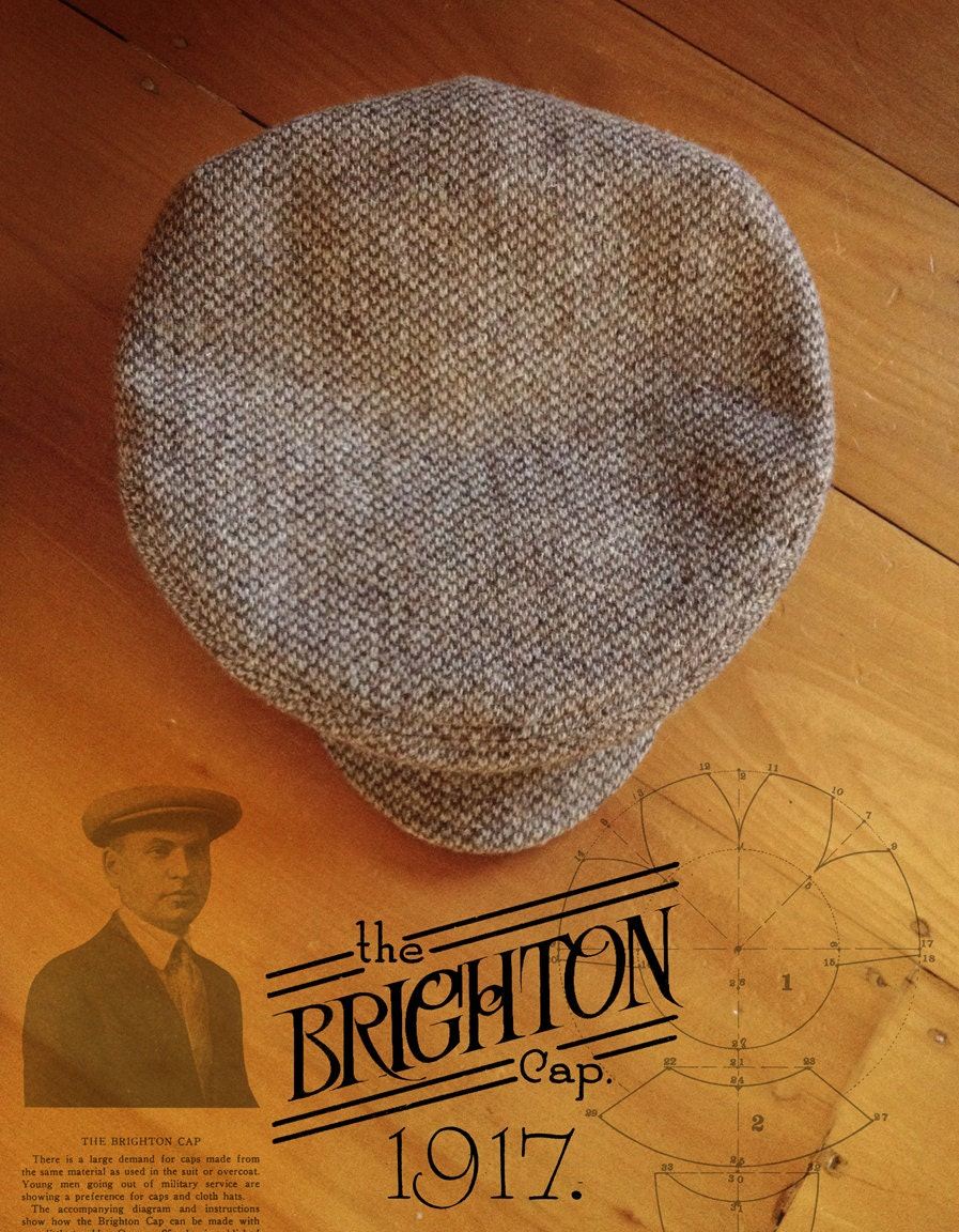 67ddb923 THE BRIGHTON Cap Bespoke 1917 Replica Flat Cap in Rare   Etsy