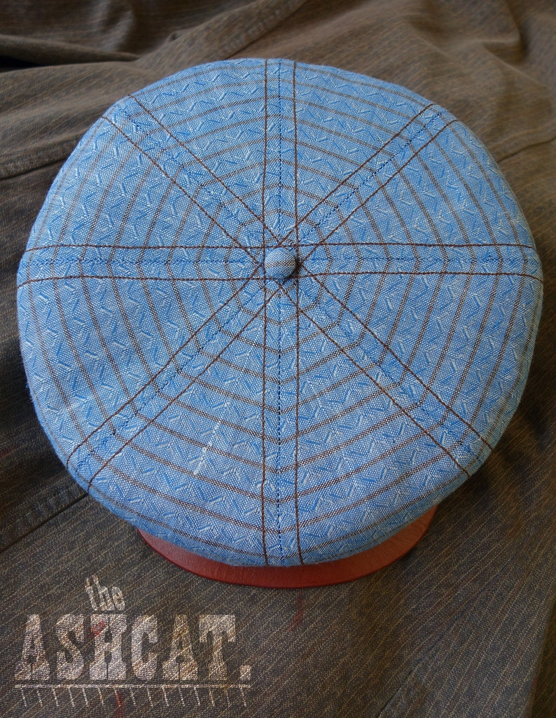 The ASHCAT  1920s-Style Workwear Railroad 8/4-Panel Cap in image 0