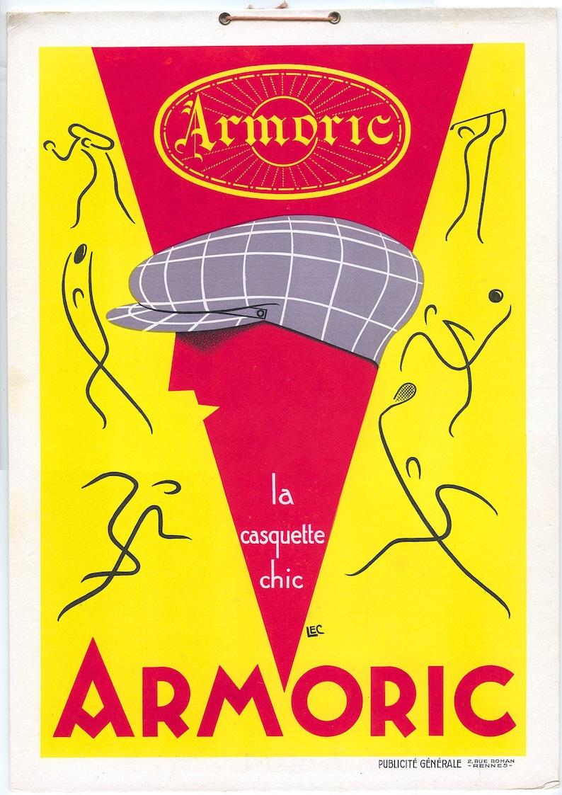 ORIGINAL 1920s Art Deco French Cap Casquette Armoric image 0