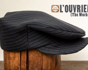 L'ouvrier (The Worker) - 1930s-pattern French Workwear Flat Cap in c.1930s French Heavyweight Workwear Cotton - Made to Order