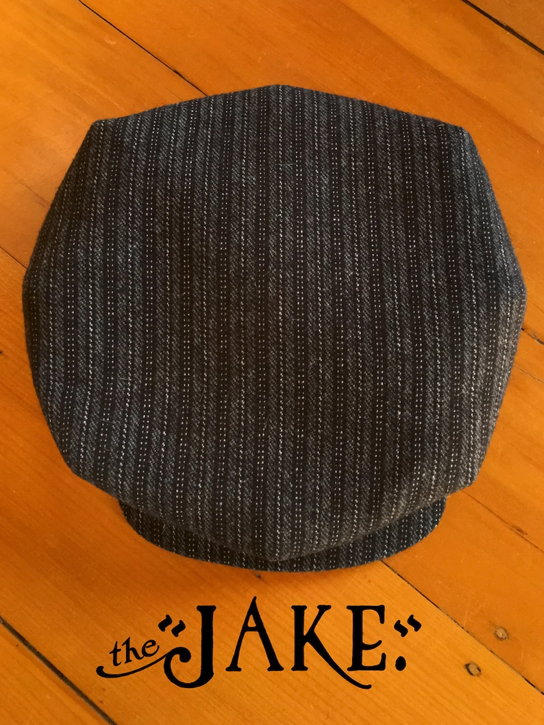 The JAKE Bespoke 1920s-style Workwear 8-dart Flat Cap in  578b7e7cde5