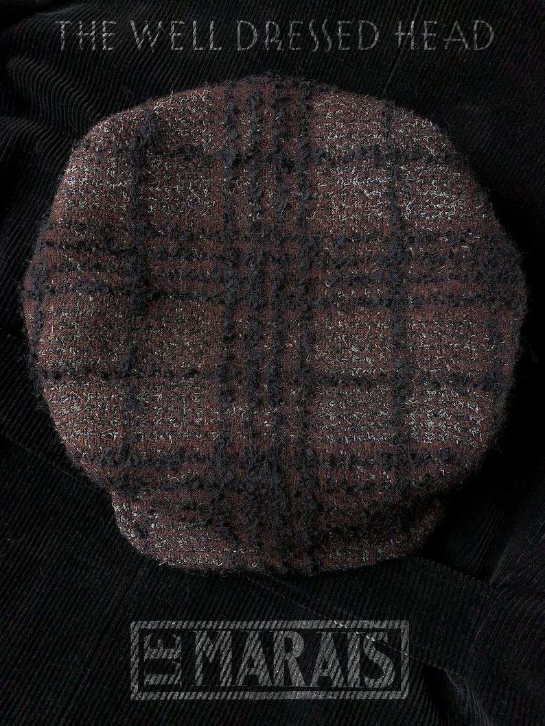 LE MARAIS  1920s-Pattern Casquette Flat Cap in Vintage Raised image 0