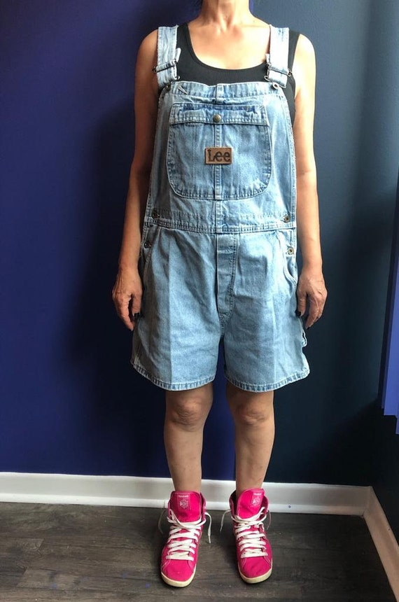 90s Light Blue Lee Denim Overalls, Dungaree, Jumps