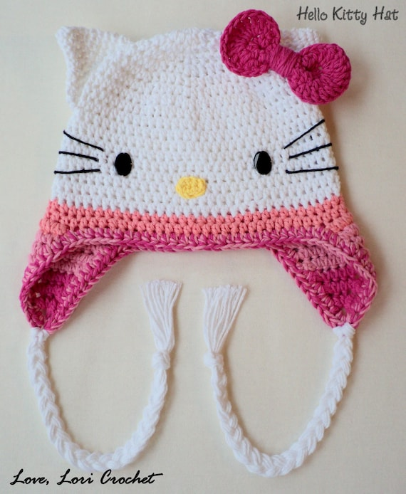 Sombrero de Kitty Kitty Crochet sombrero cualquier tamaño o | Etsy
