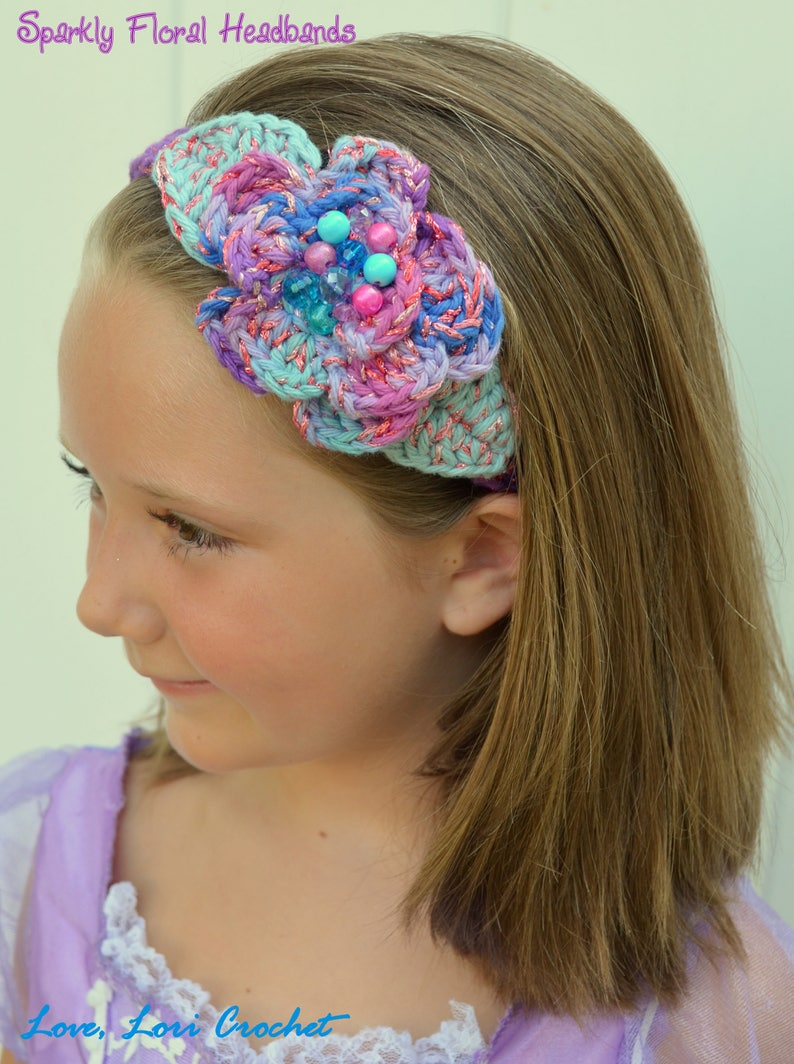 Crochet Headband Crochet Hairband Flower Headband Flower Etsy
