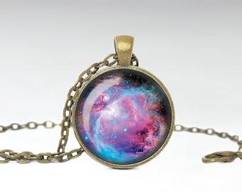 Orion Necklace, Orion Galaxy Jewelry, Nebula Pendant [B13]