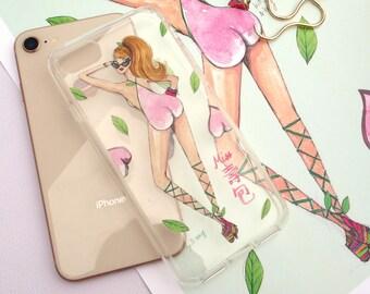 Miss Peach Bun - Clear iPhone Case