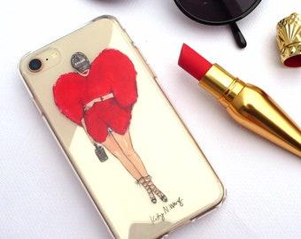 BADGALRIRI - Illustrated Clear iPhone Case