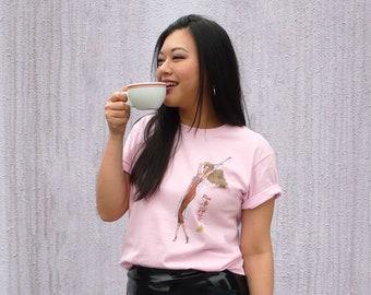 Miss Ice Lemon Tea - Art Graphics Tee Shirt / White or Pink