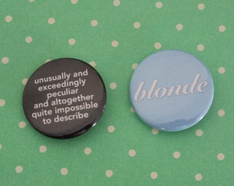 Elphaba & Glinda Wicked Musical BFF Pins (Pinback Buttons) OR Magnets