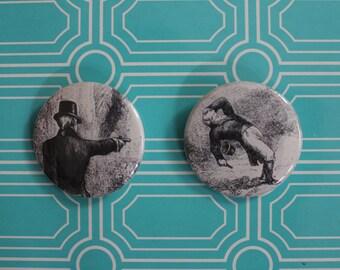 Burr & Hamilton Duel - Buttons OR Magnets