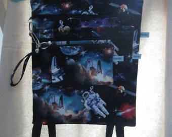 3 Piece Backpack Set/Astronaut in Space