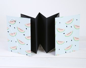 Watermelon photo album with black pages -  Birthday gift