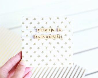 Personalized mini album with gold stars - Instagram album