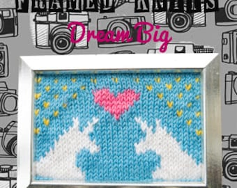 Dream Big Framed Knit - Unicorn Love Knitted Picture