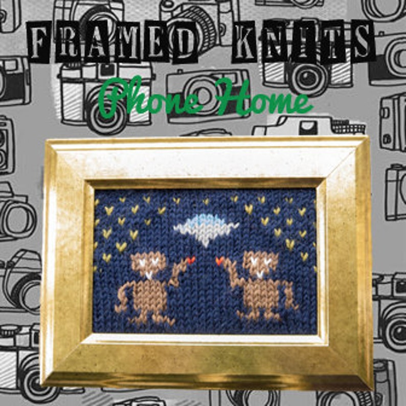 Phone Home Framed Knit  ET The Extra Terrestrial Knitted image 0