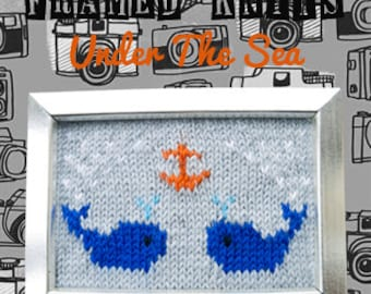 Under The Sea Framed Knit - Nautical Knitted Picture