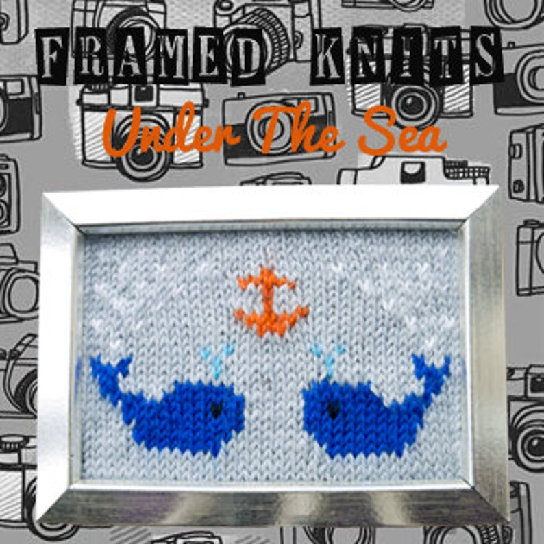 Under The Sea Framed Knit  Nautical Knitted Picture image 0