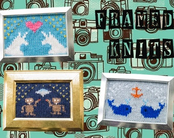 Framed Knits Pattern Collection - Kawaii Knitted Pictures