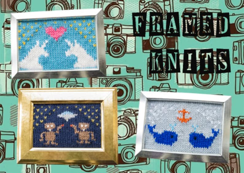 Framed Knits Pattern Collection  Kawaii Knitted Pictures image 0