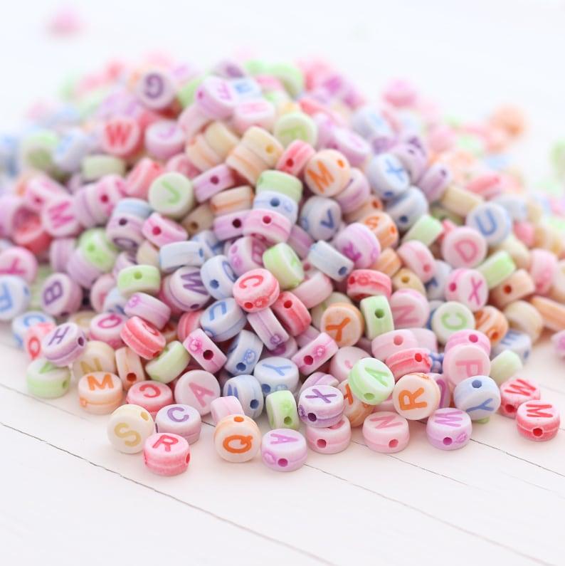 660 beads Rainbow Kandi Alphabet Beads 100g Approx Clearance Acrylic Alphabet Beads 7mm
