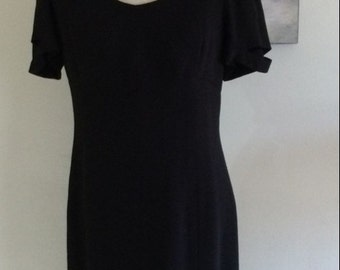 Chanel Dress, Black, Size 42, AUTHENTIC, from Chanel Boutique 80-90s