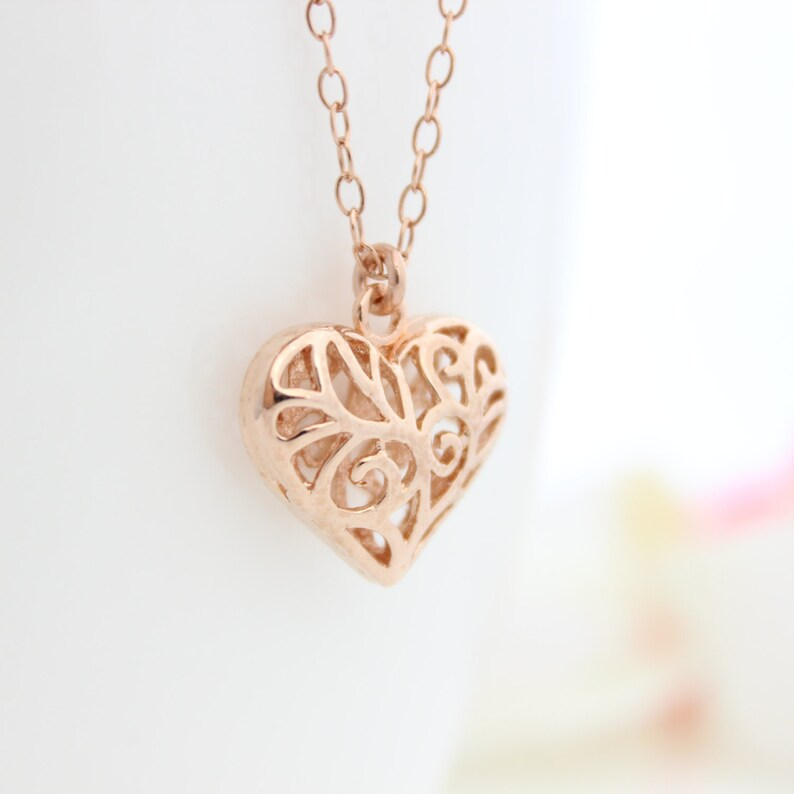df56b49e4cdde Gold Filigree Heart Pendant Necklace - Pendant Design Ideas