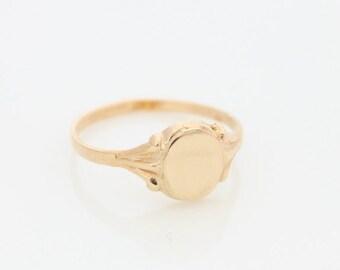 Personalized initial ring • Gold signet ring • Custom gold ring • Monogram ring • Name ring • engraved ring • Promise ring