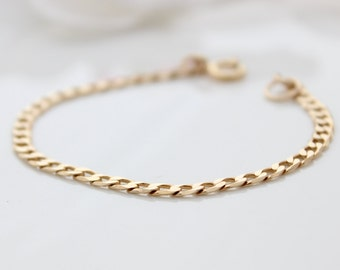 Gold Link Bracelet • Gold chain bracelet • Gift for her