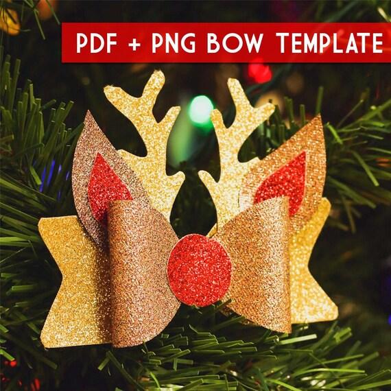 Imagenes Lazos De Navidad.Pdf Png Molde Para Lazos De Navidad Plantilla Descarga De Archivo Digital