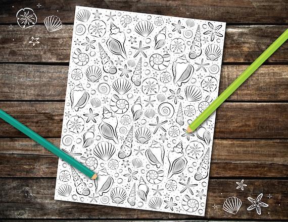Seashells Coloring Page