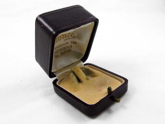 Leather Ring Box, Vintage Box, Engagement Ring Box