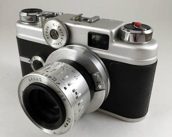 Argus C forty four, 35mm rangefinder camera *film tested, working*