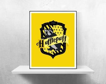 Cr te de poudlard affiche minimaliste harry potter affiche - Blason poufsouffle ...