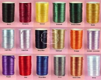RAFFIA WRAPHIA RIBBON Pearlized Rayon 12 Yard Bundle - 36 Feet 1/4 Inch 18 Colors You Choose Color