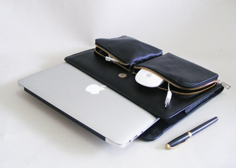 size 40 d77b2 a4cf2 Apple Macbook Air Business Carrying Case,Briefcase with Apple Charger and  Mouse Pockets,Macbook Laptop Sleeve Portfolio Case
