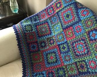 Crochet Granny Square Blanket Afghan