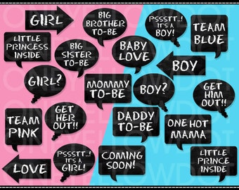 INSTANT DOWNLOAD - Baby Shower Party Photo Booth Props Printable - PDF - Personal and Commercial Use - No Credit Required