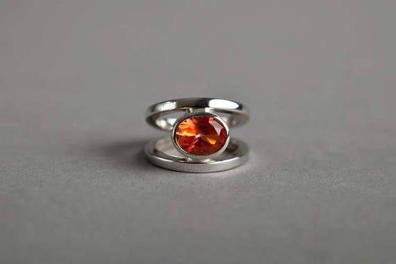 Large Oval Split Shank Ring