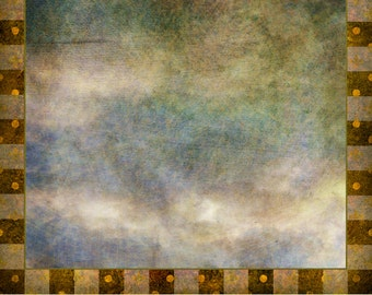 Digital Scrapbook Paper, Clouds and Checkers