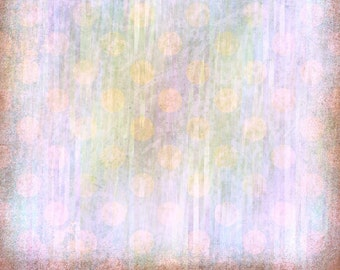 Digital Scrapbook Paper, Lavender with Peach Dots