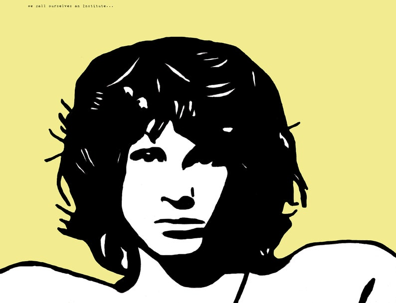 Jim Morrison Art Print - The Doors, LA Woman, Morrison Hotel, Band Poster,  Concert Poster, 1960's, 1970's, Classic Rock, Decor