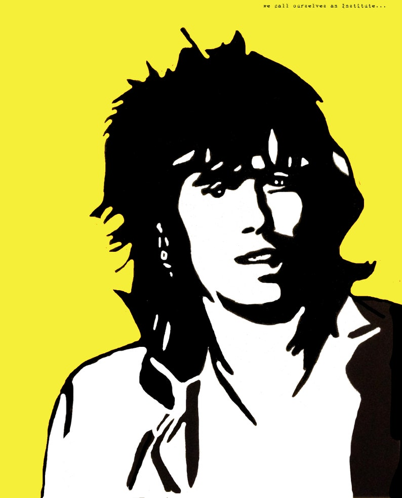 Keith Richards of The Rolling Stones Art Print - Rolling Stones, Band  Poster, Concert Poster, Limited Edition, Wall Decor