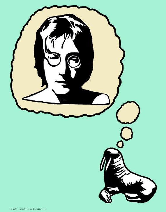 fd914f3f41 John Lennon The Walrus Art Print The Beatles